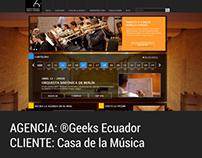 WEB DESIGN. Casa de la Música