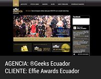 WEB DESIGN. Effie Awards Ecuador