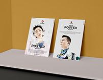Free PSD Brand Presentation Poster Mockup Design