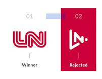 LN - Looks Nepal winner logo vs rejected logo