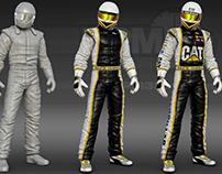 CAT Driver Suit 3D Render
