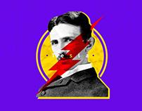 Nikola Tesla T-shirt FanArt