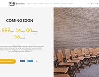 Home Coming Soon - Education WordPress Theme