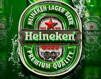 Heineken 3D label