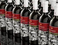 Design of the Wine Label  for Blasko Winery