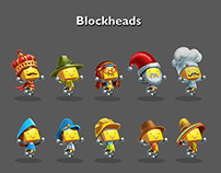 Character Design for blockheads game