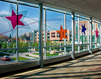 Stars, Beamz ® & Ribbons on the Skybridge