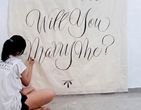Will You Marry Me Wall Tapestry/ Banner