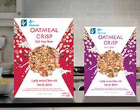 Oatmeal Crisp Cereal Packaging Refresh - Redesign