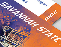 Savannah State football schedule poster and card
