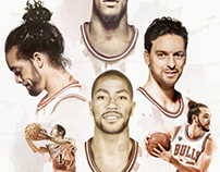 CHICAGO BULLS COMMISSIONED PORTRAITS ALL STAR 2016