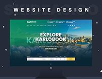 Travel Website Design (karlobook.pk)