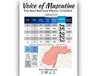 Voice of Muscatine Retail Rate Card