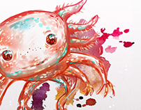 Fast paint: Axolotl and stuff