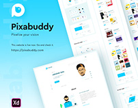 Pixabuddy website design