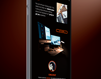 Sticky Black Design - One Page Portfolio