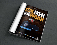 Real Men Use Wood - NECBL Publication Advertisement