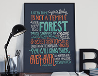 Hand lettering poster - Inspirational Quote