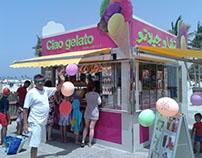 Ciao Gelato kiosk design & Detail Drawings