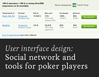 Social network and tools for poker players