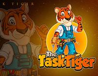 task tiger mascot logo