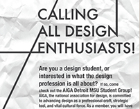 Calling All Design Enthusiasts // Flyer Design