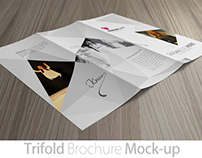 Photorealistic Tri-fold Brochure Mock-up