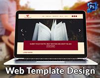 Poetry Website Template Design