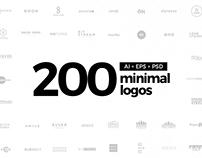 200 Minimal Logos Template