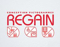 Contest - Pictograms REGAIN (1st Prize)