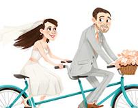 Tandem Bicycle Wedding