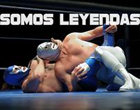 """""""Somos Leyendas"""" (el legado de Santo y Blue Demon)"""