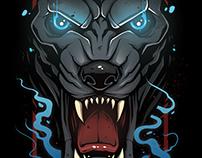 Illustration: Wolf (Revol Skateboards)