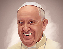 Smudge Painting_Pope Francis