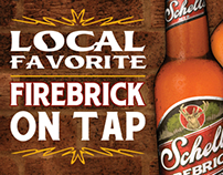 Firebrick On Tap Poster