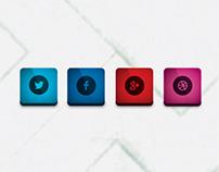 Cool social icon set