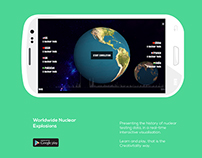 Worldwide Nuclear Explosion - Mobile App Design