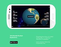 Worldwide Nuclear Explosion - Mobile App Design