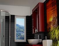 Toilet. 3d environment.