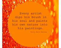 Creative, motivational quote design.