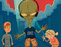 The Metalhead Alien - El Metalero Alienígena