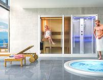 Sauna+Shower cabin
