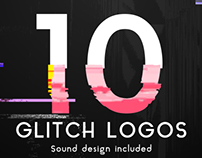 Glitch Logo Pack, After Effects Templates
