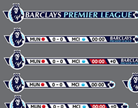 Barclays Premier League fantasy scoreboard - type 3