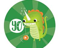 Yo Dino Dinosaur Illustration