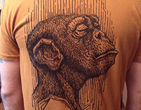 Drawing on a T-shirt