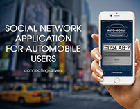 Social network application for automobile users