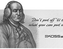 Koss Billboard Ads Illustrated by Steven Noble