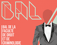 Poster : Bal de la faculté de droit et de criminologie