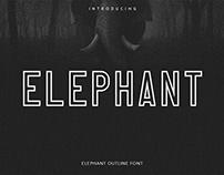 Free Elephant Outline Font